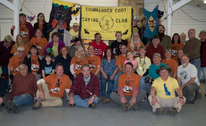 The gang Commander Cody Caving Club members